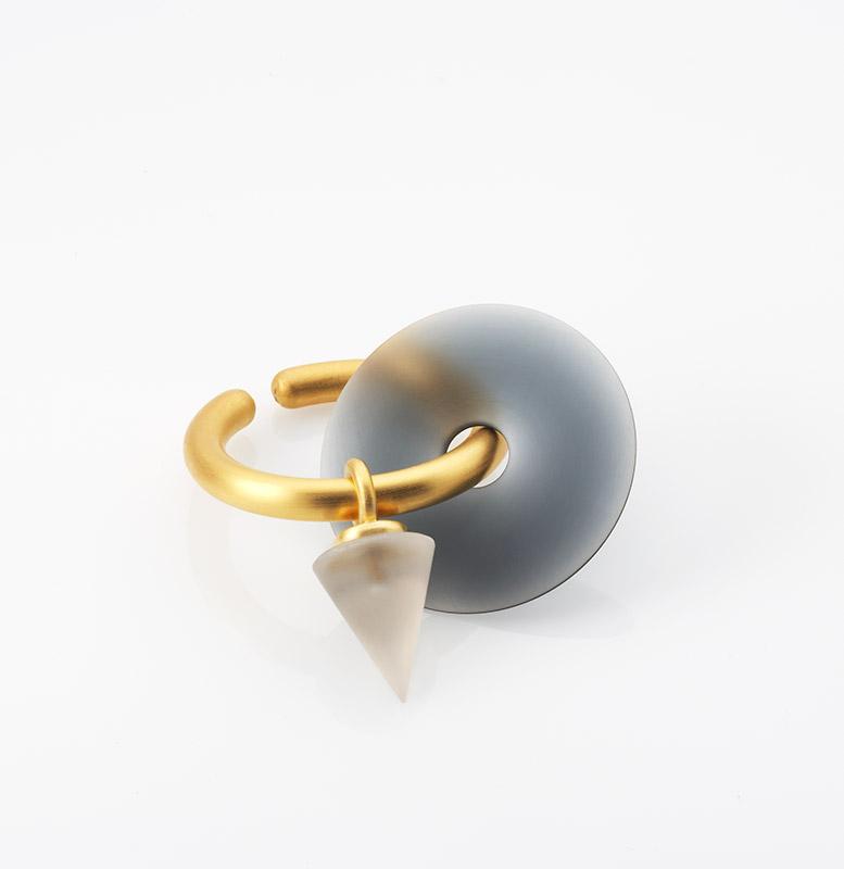Creole, 925/000 Silber, Acryllinse