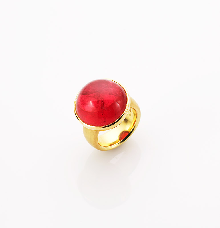 Ring, 750/000 Gold, Rubellit