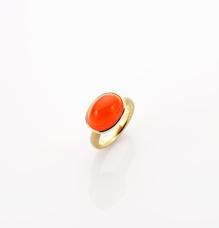 Ring, 750/000 Gold, Feueropal